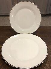 Gibson Designs Studio Platinum lot of 2 Dinner Plates