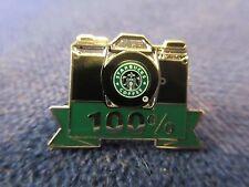 "Set of 10 Starbucks Coffee Camera 100% Employee Apron Pin Rare NEW 1"""