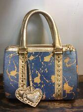 Junior Drake Denim & Leather Bag Handbag Satchel