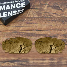 T.A.N Polarized Replacement Lenses for-Oakley Jawbone Vented Peach Gold Mirror