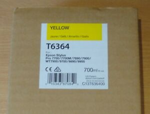 GENUINE EPSON T6364 Yellow cartridge ORIGINAL 700ml ink C13T636400  SALE BARGAIN