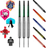 PerfectDarts Silver Brass Darts Set With Flights And Stems 20g 22g 24g