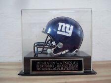 Football Mini Helmet Display Case With A Deshaun Watson Texans Nameplate