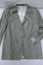 STAFFORD EXECUTIVE Silk/Wool 3 button Sport Coat/Blazer 44L made in BRAZIL NWT