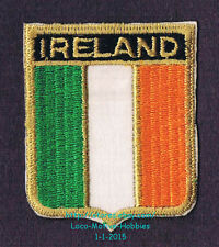 LMH PATCH Badge  IRELAND  National Ensign IRISH FLAG Tricolor Green White Yellow