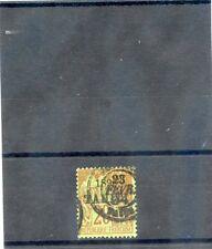 TAHITI Sc 23(YT 25)F-VF USED, 1893 20c BRICK/GREEN, $100