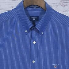 ⭐ Mens Gant The Broadcloth Pinstripe Regular Fit Short Sleeve Shirt Size Medium