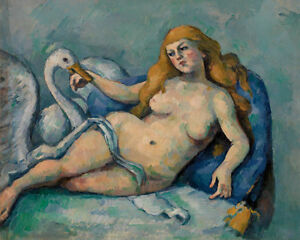 Leda and the Swan by Paul Cézanne 60cm x 48cm Art Paper Print