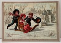 Merry as the Sleigh-Bells May Thy Christmas Be, Repro of 1874-1895 Postcard E10