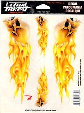 """Lethal Threat Skull Flame Sticker Car Truck SUV 6""""x8"""" US SELLER Pack of 2"""