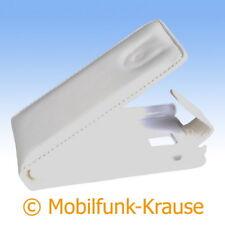 Flip Case Etui Handytasche Tasche Hülle f. LG P990 Optimus Speed (Weiß)