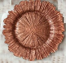 8x Glass floral Reef  Design Charger Plates in Champagne, Silver or Rose Gold