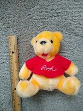 "Disney Co 5.5"" Winnie the Pooh Plush Stuffed Animal Bear Red Shirt"