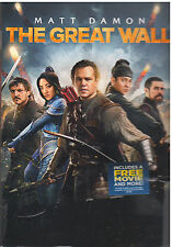 GREAT WALL (DVD, 2017) NEW WITH SLEEVE