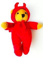 NEW! Halloween Little Red Devil Horns Costume Bodysuit Teddy Bear plush Doll Hat