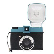 Lomo Diana F+ (Black and Blue) Medium Format Camera Kit Inc Flash
