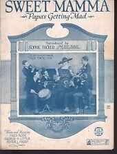 Sweet Mamma Papa's Getting Mad 1920 Sophie Tucker Sheet Music