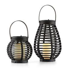 BLUMFELDT SOLAR POWERED OUTDOOR GARDEN LAMP WICKER LED CANDEL DECOR HOME LIGHT