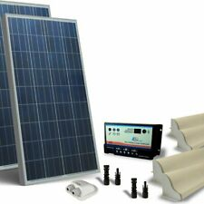 Kit Solare Camper 200W 12V Base Pannello Fotovoltaico, Regolatore, Accessori