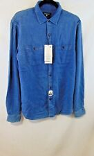 Denim & Flower Men Medium Long Sleeve Slim Fit  Denim Color Lt. Blue NWT