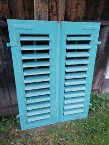 1 Paar Fensterladen - Holz - gebraucht - Höhe 123,5 cm, Breite 45 cm