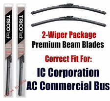 Wipers 2pk Premium Beam Wiper fit 2012+ IC Corporation AC Commercial Bus 19220x2