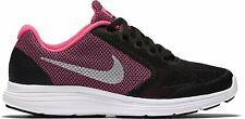 Nike Revolution 3 Girls Running Trainers UK5 Black Pink Shoes 819416-001 Sneaker