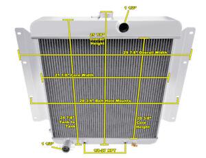 3 Row Best Cooling Champion Radiator for 1968 1969 Dodge D100 Pickup V8 Engine