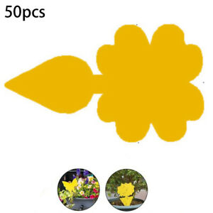 Up 50X Yellow Sticky Glue Paper Insect Trap Catcher Killer Fly Aphids Wasp Tape