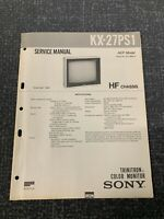 Sony Kx-27 PS1 Service Manual For Television ( HF Chassis )