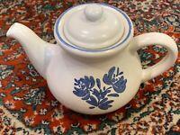 PFALTZGRAFF YORKTOWNE 5 CUP  COFFEE TEAPOT LID 7-550 WHITE BLUE FLORAL