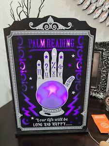 Martha Stewart Halloween LED Lighted Palm Reading Palmistry Fortune Teller NEW
