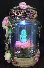 Baby Fairy /pixie In A Jar OOAK  Gift With Battery Powered Light Handmade  Gift