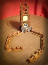 Tower and Wooden fence terrain Scenery for Tabletop 28mm Miniatures Wargame