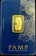 10 Gram Gold Bar Pamp Suisse Lady Fortuna Sealed( In Assay).