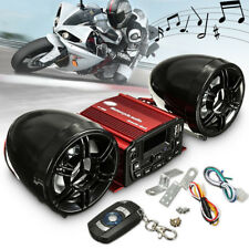 Motorcycle ATV Bike Remote Audio System Handlebar FM Radio MP3 Player Speakers