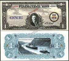 "RARE PANAMA CANAL ZONE ""1920A"" ONE BALBOA/ONE DOLLAR SPECIMEN FANTASY ART NOTE!"