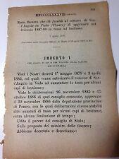 Regio Decreto 3/04/1887  Tassa sul bestiame comune di Sant'Angelo in Vado - 664