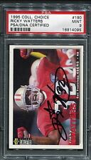1995 Collectors Choice Ricky Watters #190 Signed Autograph PSA/DNA 9