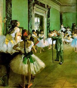 Ballet Dance Class (Dance Lesson) by Edgar Degas NEW Cotton Canvas Giclee Print