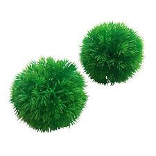 Pack De 2 Acuario Pecera Plantas De Plástico Moss Bolas 10cm X 8cm