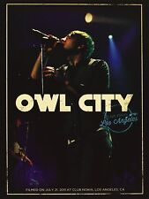 "DVD DIGIPACK NEUF ""OWL CITY - LIVE FROM LOS ANGELES"" concert 21 titres / 2011"