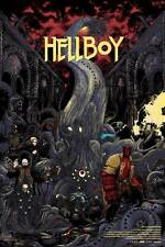 Hellboy Alternative Movie Poster Screen Print by Zakuro Aoyama No. /75 NT Mondo