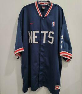 VTG Nike New Jersey BROOKLYN Nets Shooting Warm Up Jersey Jacket Mens 3XL