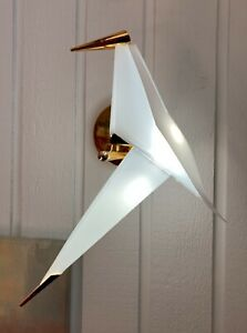 Origami Crane Bird Wall Sconce Lamp LED Light  Fixture Cool White