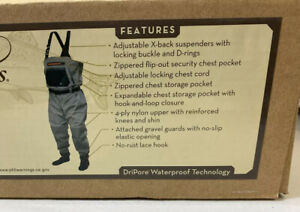 Frogg Toggs Breathable Stocking Foot Sierran Chest Wader Men's Size Large