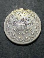 Turkey 1293 Yr. 33 (1907) 10 Kurus Better Circulated Grade Coin **Ex-Jewelry**
