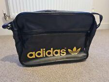 Adidas Originals Black And Gold PU leather Airliner Messenger Bag