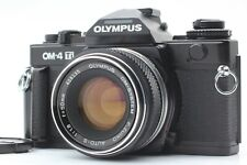 【MINT】 Olympus OM-4 Ti Black 35mm Film Camera w/  50mm f/1.8 Lens From JAPAN 764