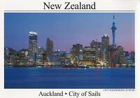 AUCKLAND SKYTOWER NEW ZEALAND POSTCARD - CITY OF SAILS NZ POSTCARD